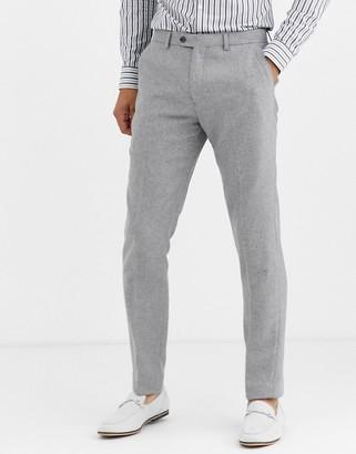 Gianni Feraud Winter Wedding Slim Fit Tweed Wool Blend Suit Pants