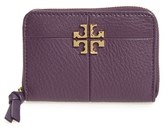 Tory Burch Women's Ivy Leather Coin Case - Purple
