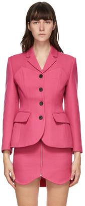 pushBUTTON Pink Bustier Curve Blazer