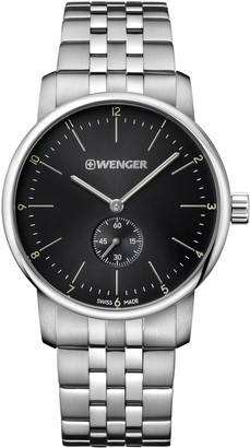 Wenger Men's Classic Swiss-Quartz Watch with Stainless-Steel Strap Silver 22 (Model: 01.1741.105)