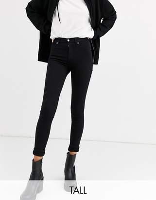 Dr. Denim Tall Plenty mid rise skinny jean-Black