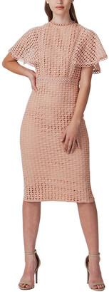 Champagne & Strawberry Midi Dress