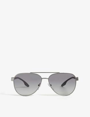 Prada Linea Rossa 54TS aviator sunglasses
