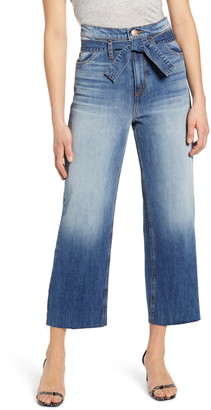 STS Blue Belted High Waist Wide Leg Crop Jeans
