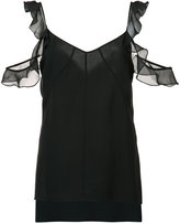 Elizabeth and James 'Cheryl' cold shoulder top - women - Silk/Polyester - XS