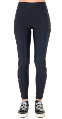 GCDS Black Embroidered Logo Leggings