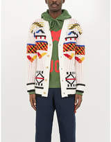 Kenzo Graphic-intarsia wool-blend cardigan