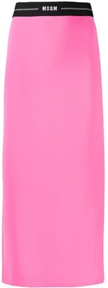 MSGM Pencil Midi Skirt