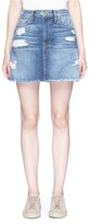 Frame 'Le Mini' distressed raw edge denim skirt