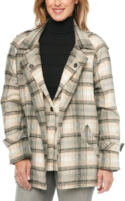 Wit & Wisdom Double Layer Plaid Blazer