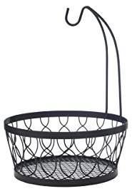 Pfaltzgraff 5214266 Rustic Farmhouse Wire Fruit Basket with Banana Hook