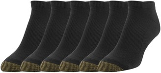 Gold Toe Women's No Show Sport Socks with Arch Support Black Shoe Size: 6-9