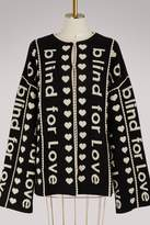 "Gucci Blind for Love"""" jacquard wool coat"""