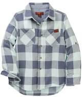 7 For All Mankind Long Sleeve Plaid Shirt (Little Boys)