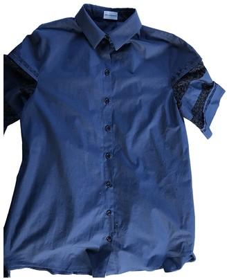 Philosophy di Alberta Ferretti Blue Cotton Top for Women