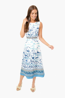 Saloni Porcelain Fleur D Dress