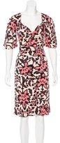 Temperley London Floral Print Silk Dress
