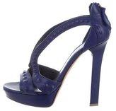 Alexander McQueen Embossed Leather Platform Sandals