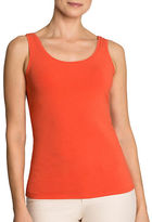 Nic+Zoe Scoopneck Cotton-Blend Tank Top