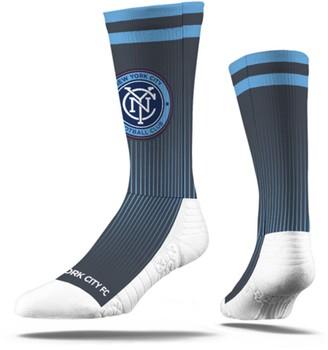 Men's Charcoal New York City FC Premium Sublimated Crew Socks
