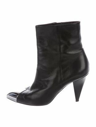 Celine Leather Boots Black
