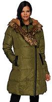 G.I.L.I. got it love it As Is G.I.L.I Asymmetric Zip Down Puffer Coat with Faux Fur Trim