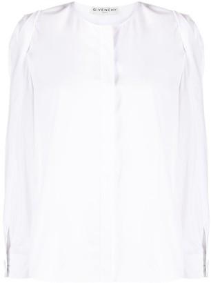 Givenchy Puff-Sleeve Poplin Blouse