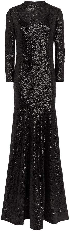 Jovani Long-Sleeved Sequin Gown