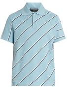 Balenciaga Striped Cotton-piqué Polo Shirt