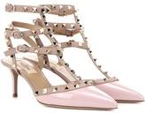 Valentino Rockstud Patent Leather Kitten-heel Pumps