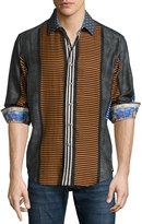 Robert Graham Tao Long-Sleeve Woven Sport Shirt, Multi