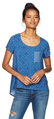 Self Esteem Women's Short Sleeve S Top with Front Pocket