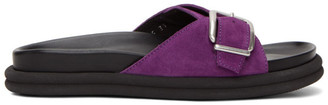 Dries Van Noten Purple Suede Slip-On Sandals