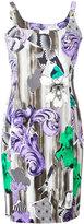 Versace printed shoulder clasp dress - women - viscose/Spandex/Elastane/Polyester/Viscose - 40