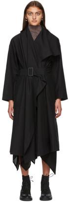 Issey Miyake Black Paper Like Tricot Coat