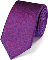 Charles Tyrwhitt Slim Magenta Silk Floral Classic Tie
