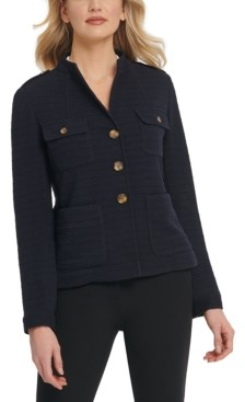 DKNY Button-Detail Knit Blazer