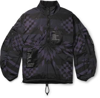 Takahiromiyashita Thesoloist. Oversized Printed Padded Nylon Half-Zip Jacket