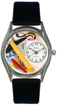 Whimsical Watches Women's S0620008 Architect Black Leather Watch