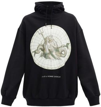Givenchy Atlantis Printed Cotton-jersey Hooded Sweatshirt - Black