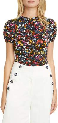 Tanya Taylor Chaia Ruched Detail T-Shirt