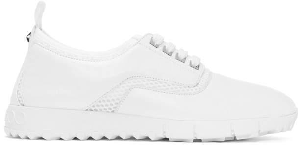 Jimmy Choo White Calfskin Jenson Sport Sneakers
