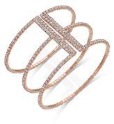 INC International Concepts Gold-Tone Crystal Triple Row Flex Bracelet, Only at Macy's