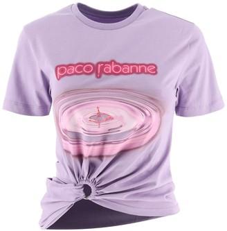Paco Rabanne Gathered Logo Print T-Shirt