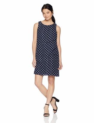 Jessica Howard JessicaHoward Women's Petite Sleeveless Asymmetrical Layered Laser Cut Shift Dress