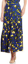 Gianni Bini Leanne Lemon Print High Waist Skirt