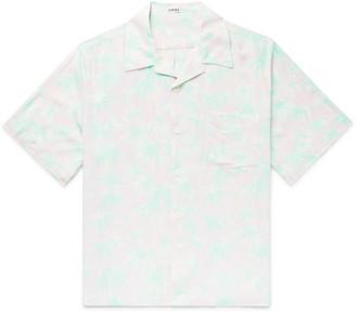 Loewe Camp-Collar Floral-Print Woven Shirt