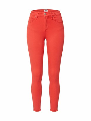 Only Women's Onlblush Mid Sk Ankraw Col Life PNT Noos Trouser