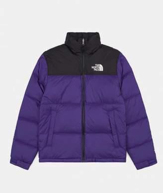 The North Face Aztec Blue Nylon 1996 Nuptse Jacket - XL - Black/Purple