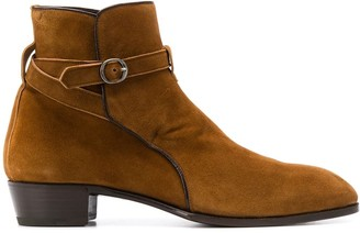 Lidfort Buckle Detail Ankle Boots